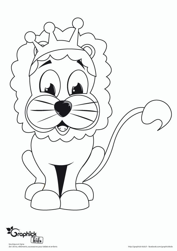 ... Lion- GraphiCK-Kids - tshirts et vêtements pour enfants et bébés ... faba127e754