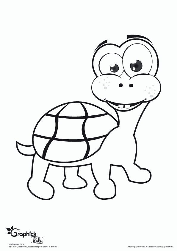 Les animaux coloriages graphick kids - Coloriage tortue ...