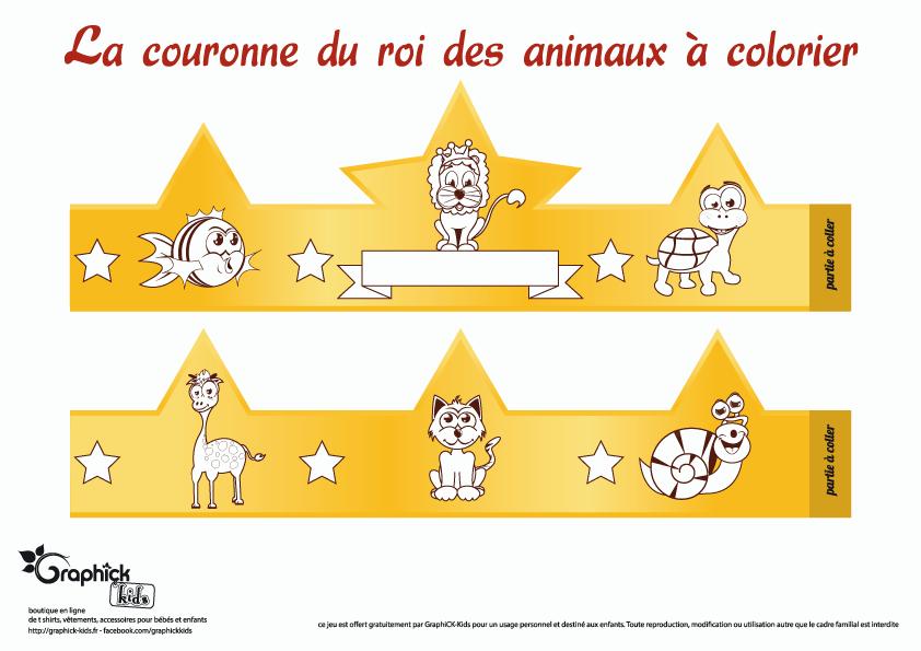 couronne-animaux-coloriage-graphick-kids-tshirt-enfants-bebes