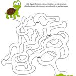 L'activité du mercredi : le labyrinthe de Juju la Tortue