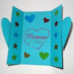 L'activité du mercredi : une carte pour les mamans