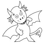 L'activité du mercredi : le coloriage de Simon le Dragon