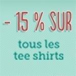 -15% Sur les tee shirts pendant toute une semaine !