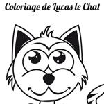L'Activité du mercredi : Le coloriage de Lucas le Chat