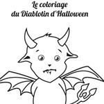 L'activité du mercredi : coloriage du Diablotin d'Halloween