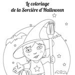 L'activité du mercredi : Le coloriage de la sorcière d'Halloween