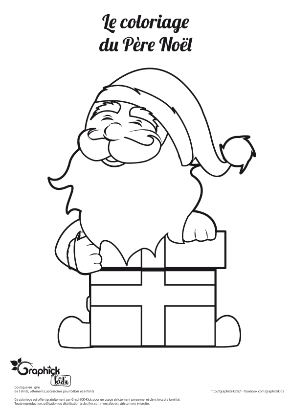 Coloriage Bebe Pere Noel.Noel Coloriages Graphick Kids