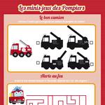 L'activité du mercredi : Les minis-jeux des pompiers