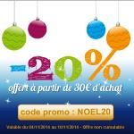 20% offerts dès 30 euros d'achat