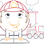 L'activité du mercredi : le coloriage du pompier min'kids