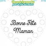 L'activité du mercredi : carte à gommettes pour la fête des mères