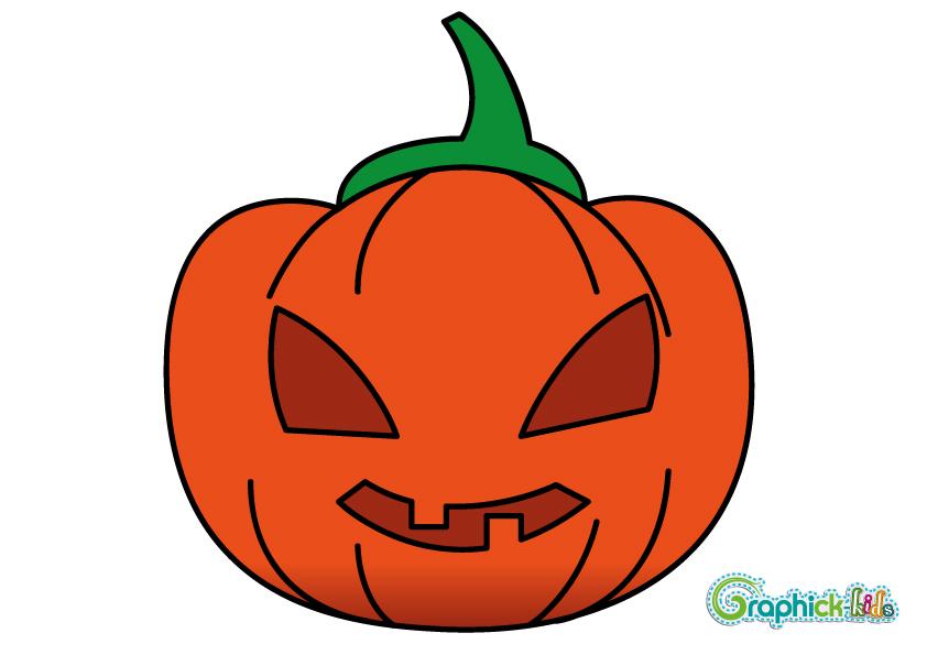 Le on de dessin 1 la citrouille d 39 halloween en 10 - Dessin de citrouille d halloween ...