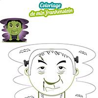L'activité du mercredi : Le coloriage du min'frankenstein