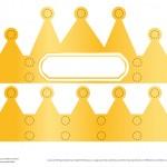 couronne des rois à gommettes