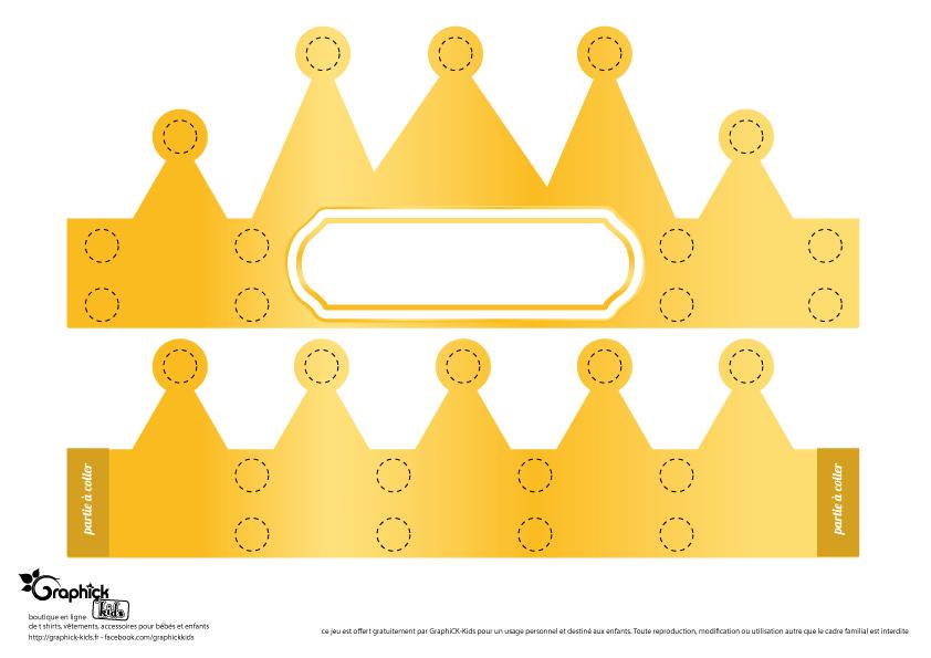 L 39 activit du mercredi la couronne des rois gommettes - Decoration couronne des rois ...