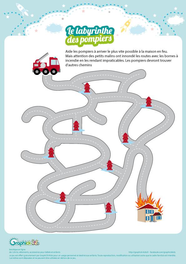 Labyrinthe Des Pompiers Jeu De Jeux Paques