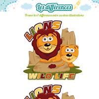 L'activité du mercredi : les 7 différences des lions