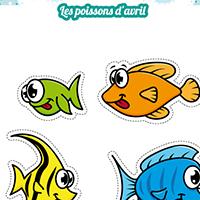 L'activité du mercredi : les poissons d'avril à découper