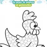 L'activité du mercredi : la poule de pâques en gommettes