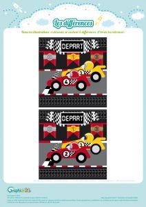 jeu des différences course de voitures