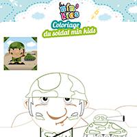 L'activité du mercredi : le coloriage du soldat min'kids