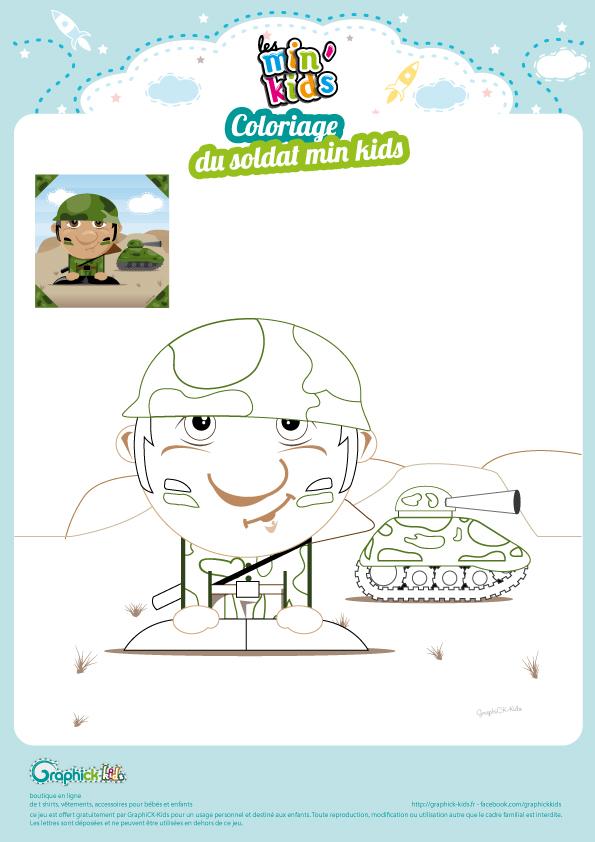 L 39 activit du mercredi le coloriage du soldat min 39 kids graphick kids - Coloriage petit soldat ...