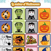 L'activité du mercredi : le mémo d'Halloween