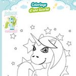 L'activité du mercredi : le coloriage d'une licorne