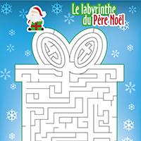 L'activité du mercredi : Le labyrinthe du Père Noël