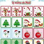 L'activité du mercredi : le mémo de Noël