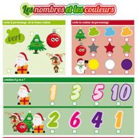 L'activité du mercredi : Les nombres et les couleurs de Noël
