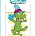 puzzle dinosaure magicion