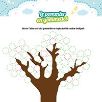 L'activité du mercredi : L'arbre en gommettes