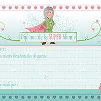 L'activité du mercredi : un diplôme pour super mamie