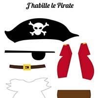 L'activité du mercredi : le pirate à habiller