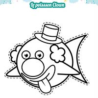 miniature poisson clown coloriage