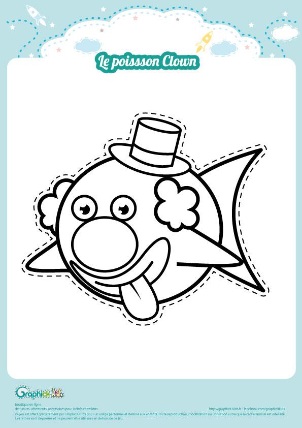 Coloriage Clown Drole.L Activite Du Mercredi Le Poisson Clown Graphick Kids