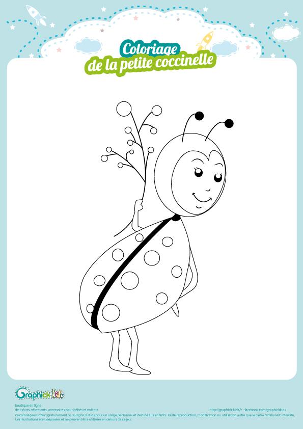 L Activite Du Mercredi Le Coloriage Coccinelle Graphick Kids