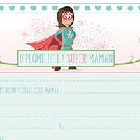 L'activité du mercredi : Le diplôme de la Super Maman