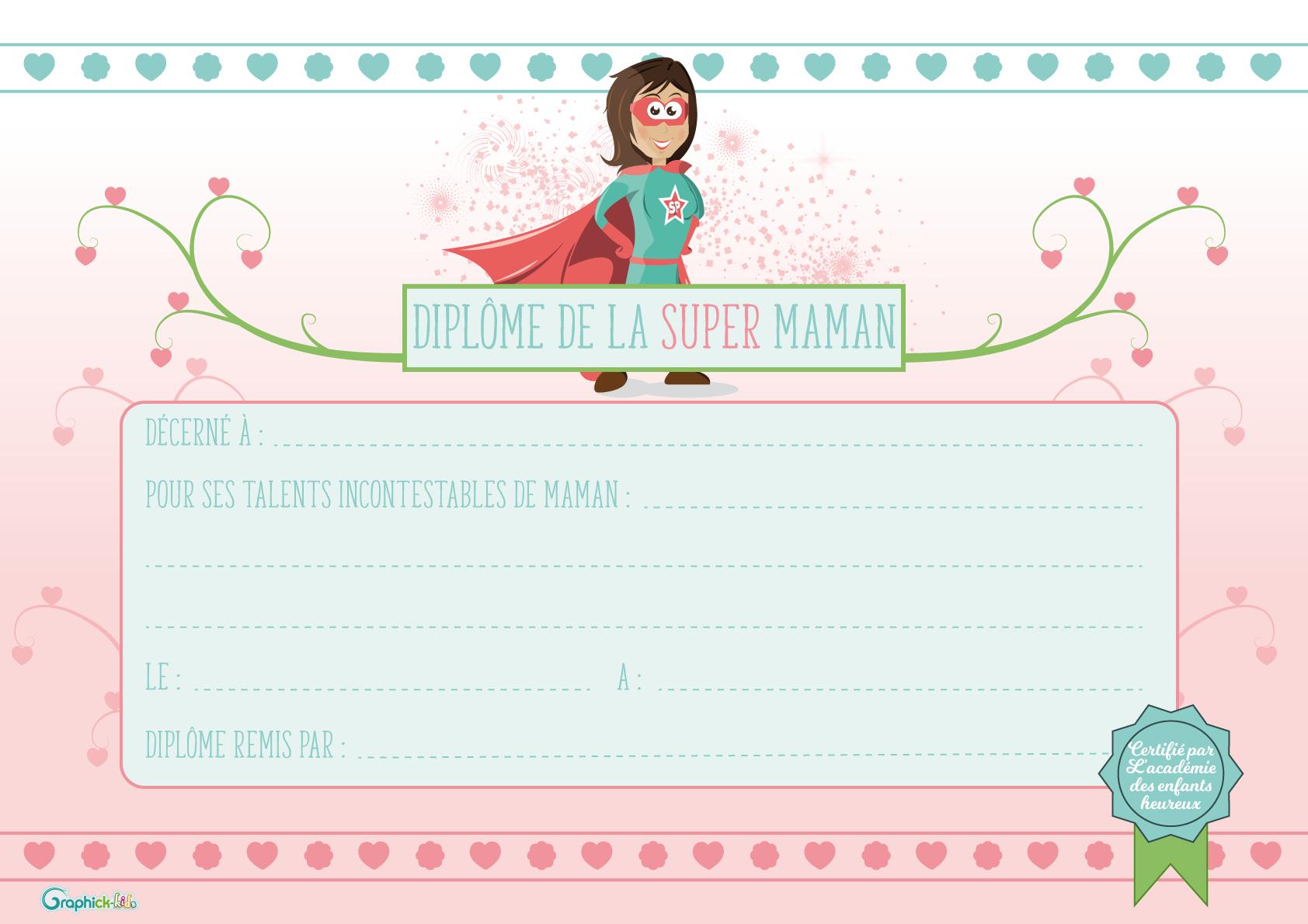 L 39 activit du mercredi le dipl me de la super maman - Maman pour le meilleur et pour le reste ...