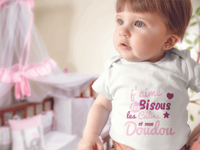 body bisous calins doudou cadeau de naissance