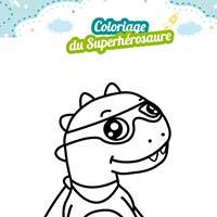 coloriage dinosaure super héros miniature