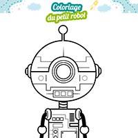 L'activité du mercredi : le coloriage du petit robot