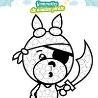 lapin pirate gommettes