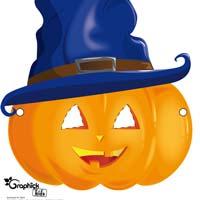 masque halloween citrouille sorcière