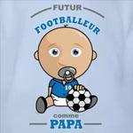 tee shirt bébé futur footballeur