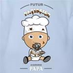 tee shirt bébé futur pâtissier