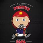 tee shirt bébé futur pompier