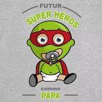 tee shirt bébé futur super héros