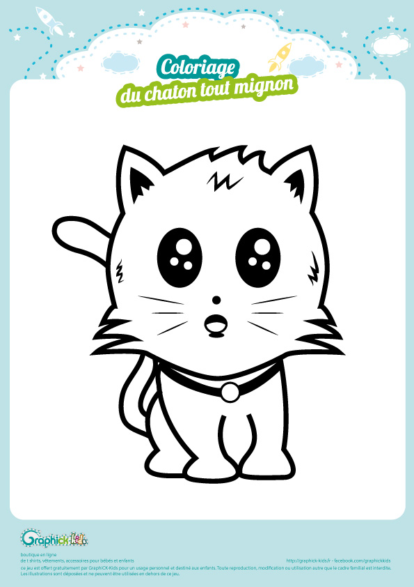 L Activite Du Mercredi Coloriage Du Petit Chaton Graphick Kids